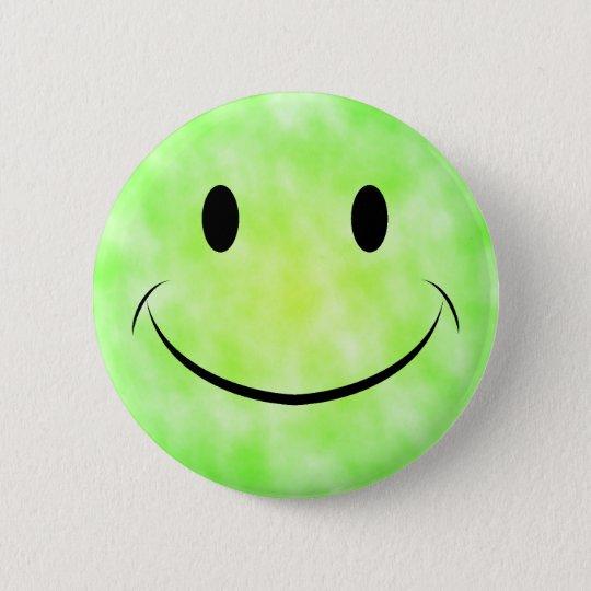 Grüner Krawatten-Smiley-Knopf Runder Button 5,1 Cm