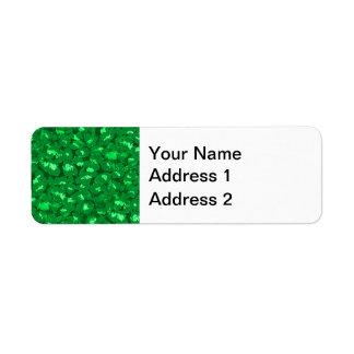 Grüner Leopard-Druck Kleiner Adressaufkleber