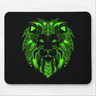 Grüner Löwe mit Hintergrund-Farbe Ihrer Wahl Mauspad