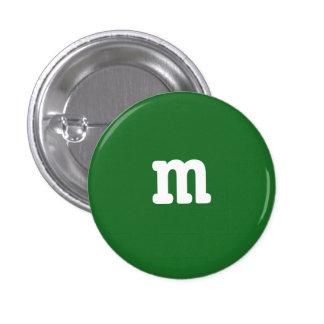Grüner m-Knopf Runder Button 3,2 Cm