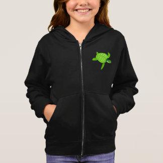 Grüner Meeresschildkröte-MädchenHoodie Hoodie