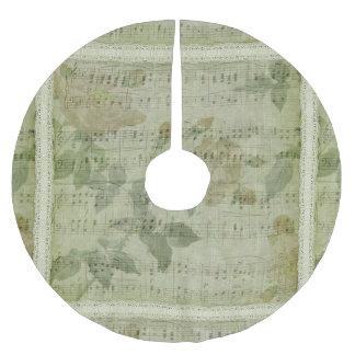 Grüner Musik-Blatt-Weihnachtsbaum-Rock Polyester Weihnachtsbaumdecke