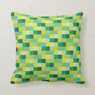 Grüner Muster  Gamer der Pixel-  Pixelated Kissen
