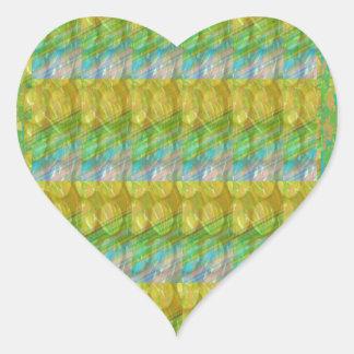 Grüner perlen-Stein-Flecken Graffiticonfetti-n Herz-Aufkleber