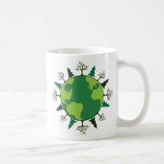 Grüner Planet Kaffeetasse