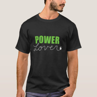Grüner Power-Liebhaber-T - Shirt