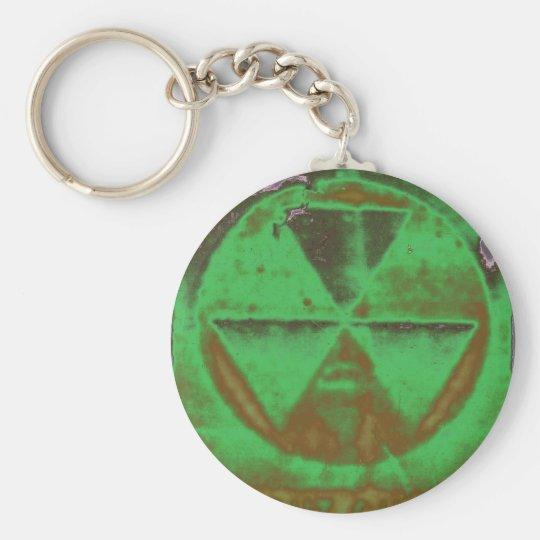 grüner radioaktiver Niederschlag Standard Runder Schlüsselanhänger