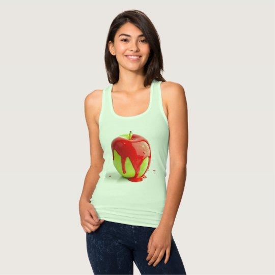 Grüner roter Apple-T - Shirt für Frau