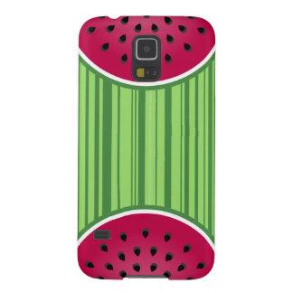 Grüner roter Wassermelone-Entwurf Samsung Galaxy S5 Hüllen