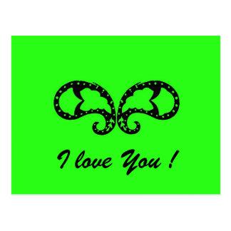 Grüner Schmetterling, i-Liebe Sie! Postkarte