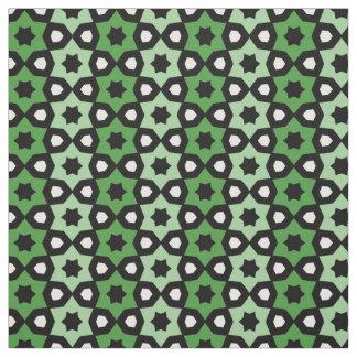 Grüner Schwarzweiss-Stern-Streifen-Muster-Druck Stoff