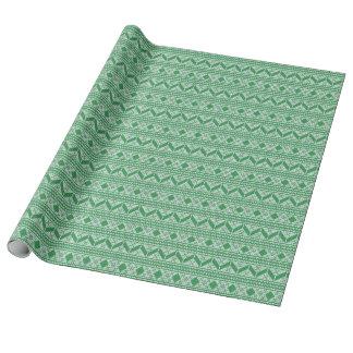 Grüner Strick-Pullover-hässliches Geschenkpapier