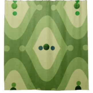 Grüner Strudel-Duschvorhang Duschvorhang