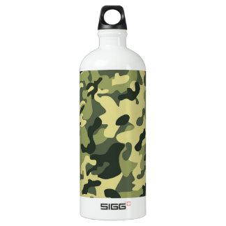 Grüner TAN-Schwarz-Tarnungs-Muster-Hintergrund Wasserflasche