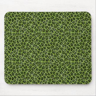 Grüner Tierdruck Mousepad