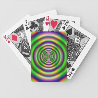 Grüner Torus-Tunnel Bicycle Spielkarten