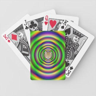 Grüner Torus-Tunnel + Katze Bicycle Spielkarten