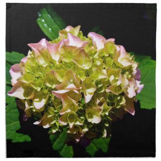 Grüner und rosa Hydrangea Stoffserviette