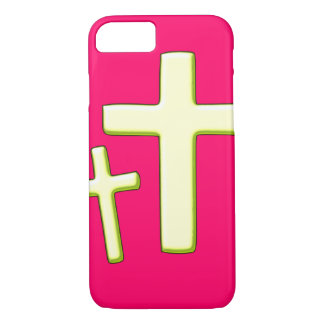 Grüner und rosa Querentwurf iPhone 7 Hülle