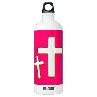 Grüner und rosa Querentwurf Wasserflasche