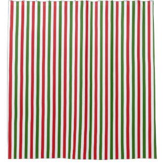Grüner und roter Weihnachtsduschvorhang Duschvorhang