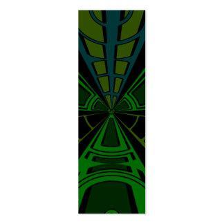 Grüner und schwarzer Rechteckentwurf Jumbo-Visitenkarten