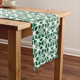 Grüner und weißer Umfangs-Muster-Tabellen-Läufer Kurzer Tischläufer