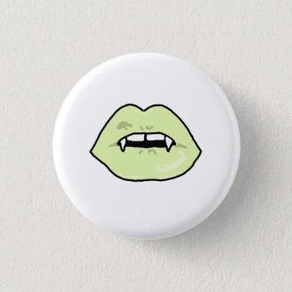 Grüner Vampirs-Lippenknopf Runder Button 3,2 Cm