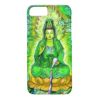 Grüner Zen-Buddhist-Göttin Kuan Yin iPhone 7 iPhone 8/7 Hülle