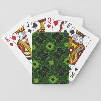 Grünes abstraktes Muster Pokerkarte