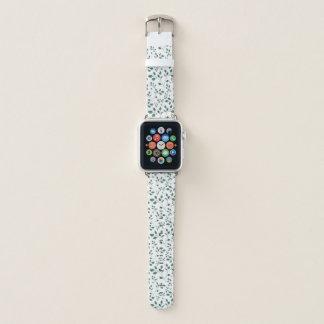 Grünes Aquarell-Laub-Muster Apple Watch Armband