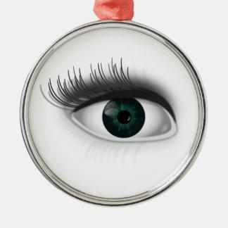 Grünes Auge Silbernes Ornament