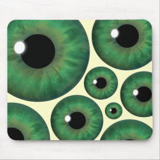 Grünes Augen-Iris schaut coole Mausunterlage Mousepad