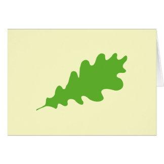 Grünes Blatt, Eichenblatt Entwurf Karte