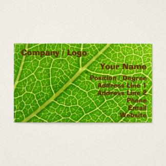Grünes Blatt Visitenkarte
