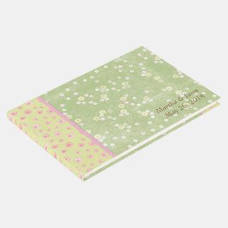 Grünes Blumen-Land-Hochzeits-Gast-Buch Gäste Buch