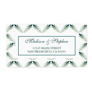Grünes botanisches Aquarell-Muster - Hochzeit