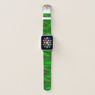 Grünes Camoflage Apple Watch Armband
