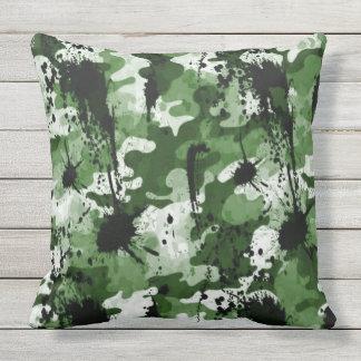 Grünes Camoflauge Kissen Für Draußen
