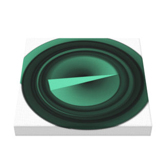 grünes Dreieck Leinwanddruck