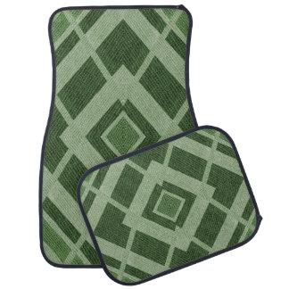 Grünes dreieckiges Druck-Entwurfs-Set von 4 Automatte