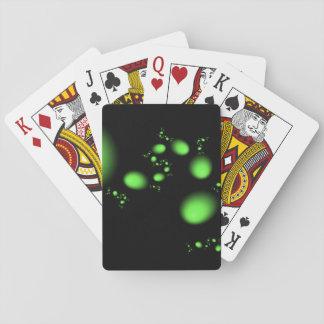 Grünes Ei-Fraktal Spielkarten