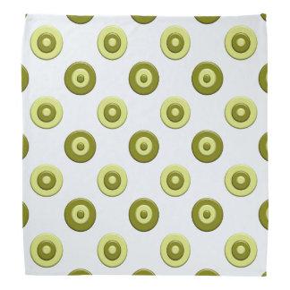 Grünes Element der Tupfen Kopftuch