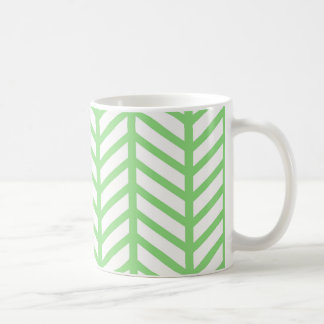 Grünes Fischgrätenmuster Kaffeetasse