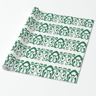 """Grünes Fleur Batik-Packpapier, 30"""" x 6' Geschenkpapier"""