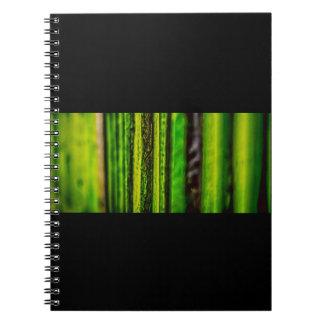 Grünes Foto-Notizbuch Spiral Notizblock