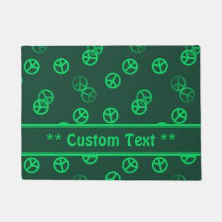 Grünes Friedenszeichen-Muster mit Türmatte