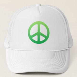 Grünes Friedenszeichen Truckerkappe