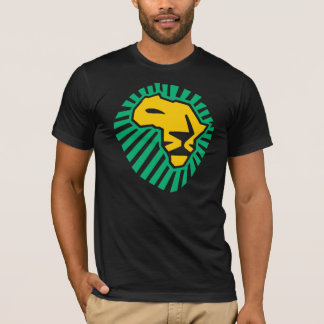 Grünes gelbe Mann-Shirt Waka waka T-Shirt