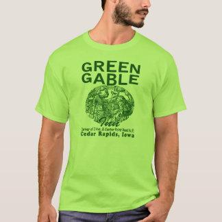 Grünes Giebel-Gasthaus-T-Shirt T-Shirt
